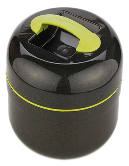 Kunststoff-Thermobehälter, 4,0Ltr., anthrazit-grün, m. Speise-Einsatz 1,1 ltr
