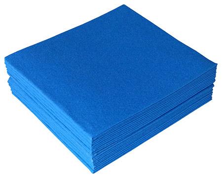 Feuchtwischtuch dunkelblau 10er-Pack 35x40cm, antibakteriell ausgerüstet,