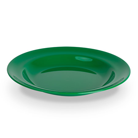 Teller tief, 24cm, grün, Polycarbonat