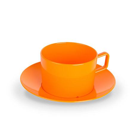 Tasse mit UT, 20cl, orange, Polycarbonat