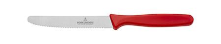 Pizza-/Brotzeitmesser, rot, Picard, Klinge 11cm, Kunststoffgriff, Wellenschliff