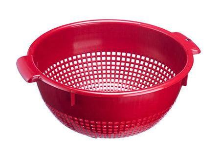 Seiher, Ø 26cm, rot, Kunststoff PE