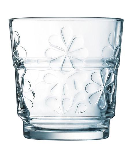 Stapelglas Funny 25cl, 6er-Pack stapelbar, spülmaschinenfest