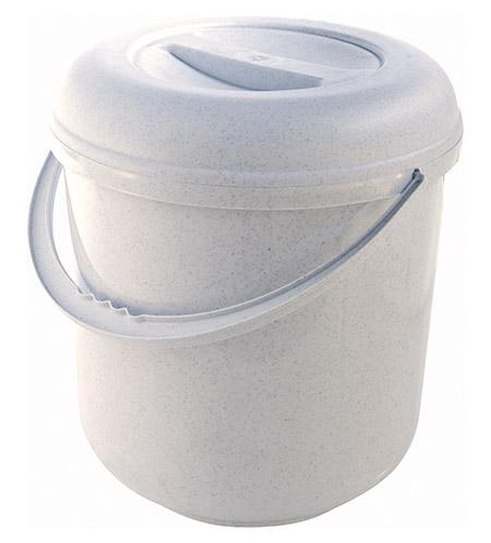Deckeleimer granit, 20Ltr. mit Kunststoffbügel Kunststoff
