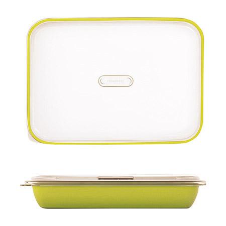 Frischhalte-/Servierbox grün 3,2L, PP, Microban mit transparentem Deckel, 35,5 x 25 x H 7cm