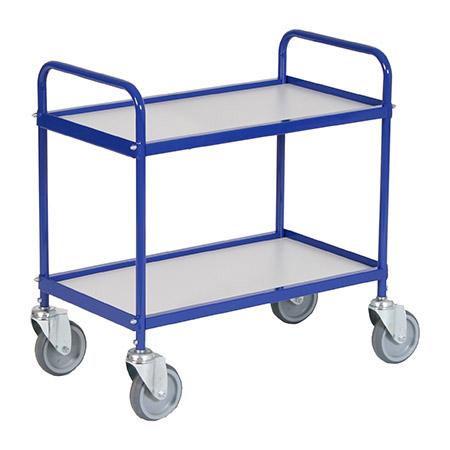 Kleiner Allzweckwagen, blau, 2 Borde,