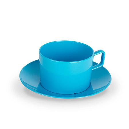 Tasse mit UT, 20cl, hellblau, Polycarbonat