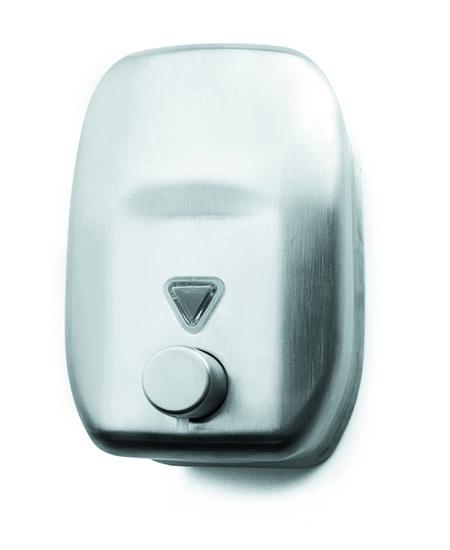 Seifenspender, Edelstahl mit Auslauf im Taster, für 1,8Ltr. Seife