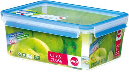 Frischhaltedose, 5,5 L, ClipClose, Kunststoff, rechteckig, transparent/blau