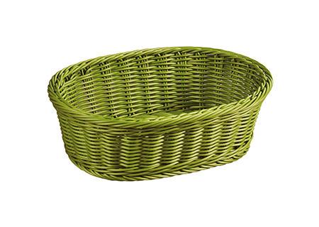 Brot-/Obstkorb grün Kunststoffgeflecht 29,5x23x9,5cm, spülmaschinengeeignet