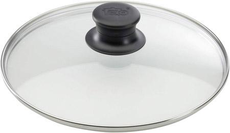 Glasdeckel für ELO-Pfanne, 32cm, mit Edelstahlrand und Kunststoffknopf