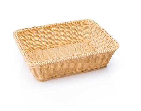 Poly-Rattan-Korb, natur, 32,5x26,5x10cm, GN 1/2, Premium-Qualität,