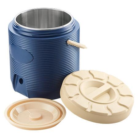 Thermo-Speisetransportbehälter, 12,0Ltr., blau, Innenbehälter 18/8-18/10,