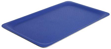 Tablett, rutschfest, 53x32,5cm, blau gummilaminierter Schichtstoff