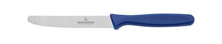Pizza-/Brotzeitmesser, blau, Picard, Klinge 11cm, Kunststoffgriff, Wellenschliff