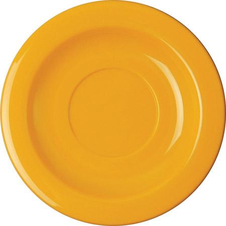 Untertasse, 14cm, gelb, PP