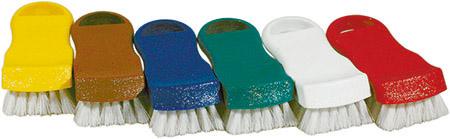 Bürste, 15cm, grün/weiß, für Schneidbretter Polypropylen