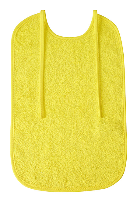 Lätzchen lang, 25x40cm, gelb, Frottee 100% Baumwolle, 60°Wäsche, trocknergeeignet